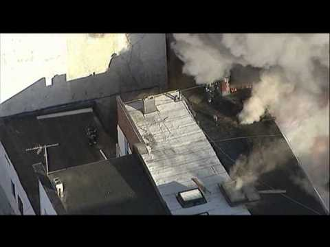 Five Alarm Fire Destoys Large Garage in NY  5/2/13