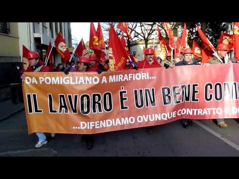 Corteo Fiom-CGIL a Padova-28-1-2011