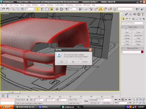 Modeling a car in 3ds max - Episode 7 - The Doors