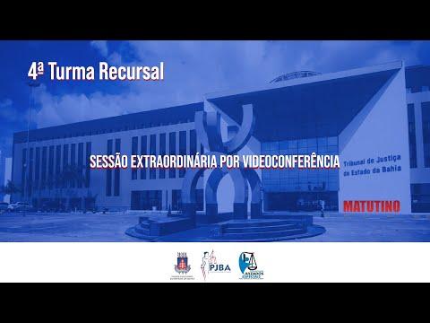 4ª Turma Recursal   Sessão Extraordinária por Videoconferência 27 de Setembro de 2021 - Matutino