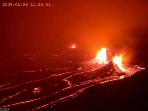 Volcano Lava Flow - Timelapse