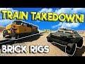 ULTIMATE LEGO TRAIN TAKEDOWN RACE & CRASHES! - Brick Rigs Gameplay - Lego Train Simulator Crash