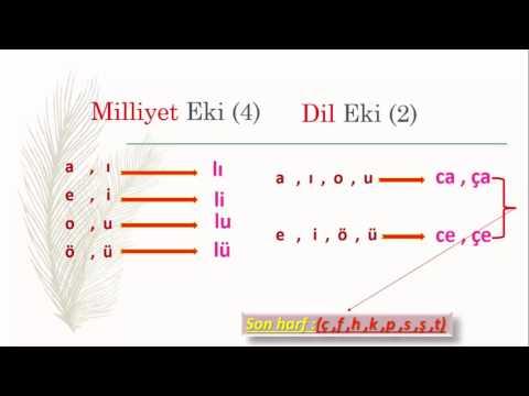 تعلم اللغة التركية (الدرس 11 من المستوى الأول A1) (لواحق الجنسيات واللغات)