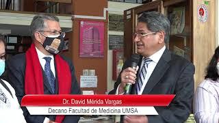 FAMILIA GOITIA DONA LIBROS DEL DR. JAVIER TORRES GOITIA A LA FACULTAD DE MEDICINA UMSA