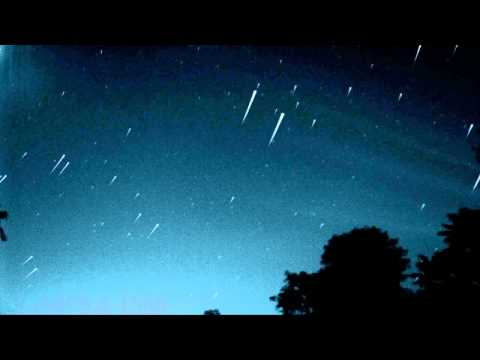 HD Star Trails time lapse night skies composite, ambient filter V08504