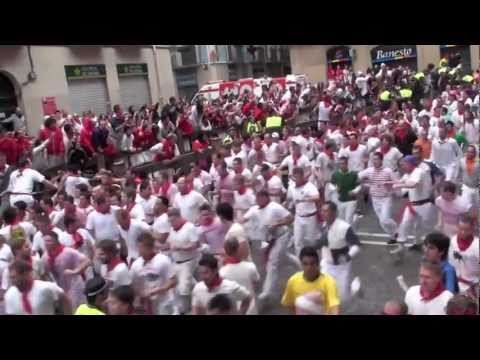 Feria de San Fermin, Pamplona - Running of the Bulls: 7th July 2011