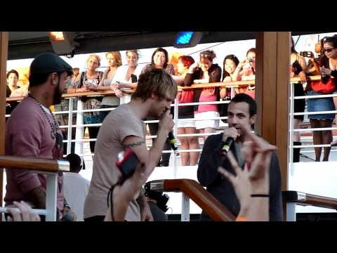 BSB Cruise 2011 Day 1 #7 - Sail Away Party - Nick & AJ's Song for Howie