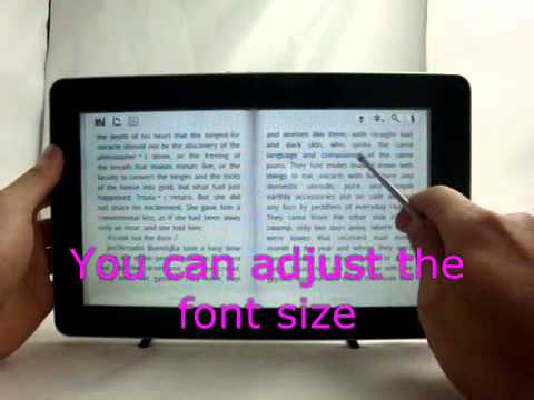 10.2-- EPad Flytouch2 Android Tablet Ebook-Reader MID 3D Turn Page