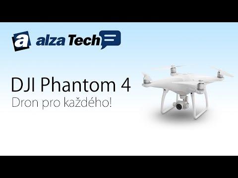 DJI Phantom 4: Kvalitní dron pro každého! - AlzaTech #370