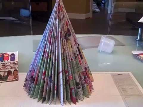 Recycled Magazine Tree as seen on Martha Stewart