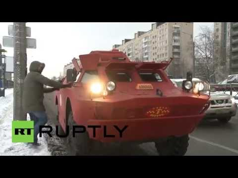 Armoured vehicle used as TAXI(only in Russia)