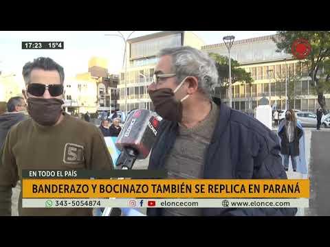 Banderazo convocado en todo el país, se replicó en Paraná