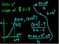 Фрагмент с средины видео - Calculus: Derivatives 2   Taking derivatives   Differential Calculus   Khan Academy