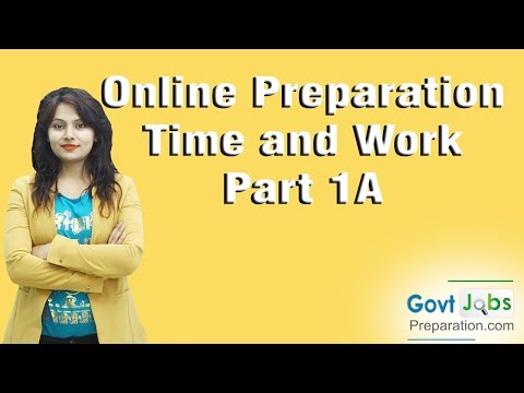 Online Preparation-Time and work-Part1-Type-A