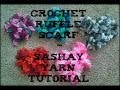 Crochet Ruffle Scarf Using Sashay Yarn Tutorial!