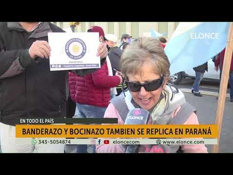 Banderazo y bocinazo se replicó en Paraná
