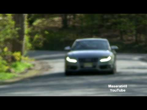 (HD) Audi S5 DMH Electric Cutout Exhaust-Incredible Sound-Revving and Fly by