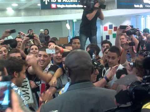 Alessandro Del Piero Arriving in Sydney.