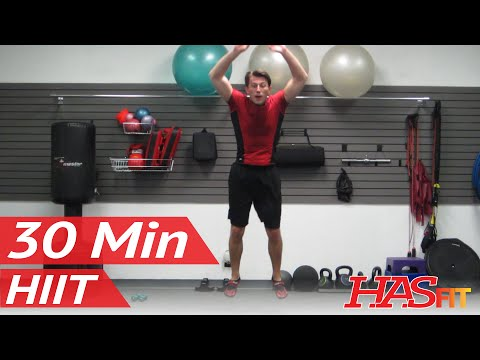 HASfit's Ultimate Warrior 30 Minute Workout w/ Plyometrics Strength Cardio Abs & MMA w/ Coach Kozak