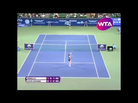 Mandy Minella v Kimiko Date Krumm WTA Tokyo 2011 Highlights
