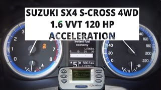 Suzuki SX4 S-Cross 4WD 1.6 VVT 120 KM - acceleration 0-100 km/h