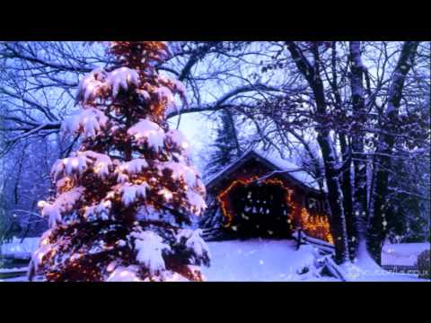 FREE motion backgrounds for Christmas - Coveredbridge in the Snow HD