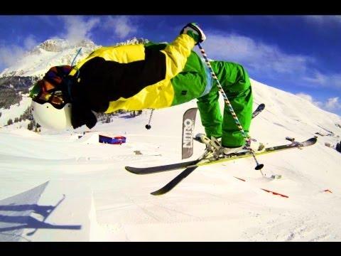 Горные лыжи в трюк парке