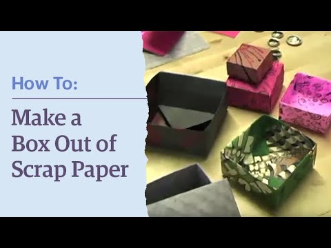 Etsy How To:  Make a box out of scrap paper!