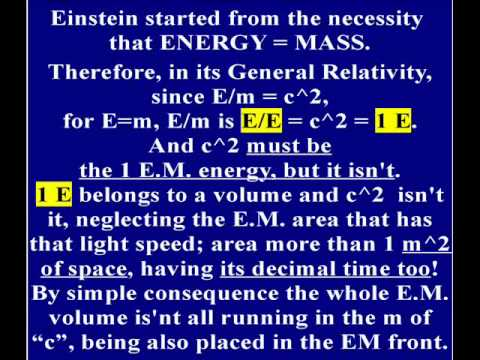 "CHECK OF ""E=MC2"" by CONSIDERING ""ENERGY=MASS"".wmv"