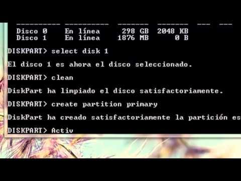 Formatear windows 7 desde USB sin programas