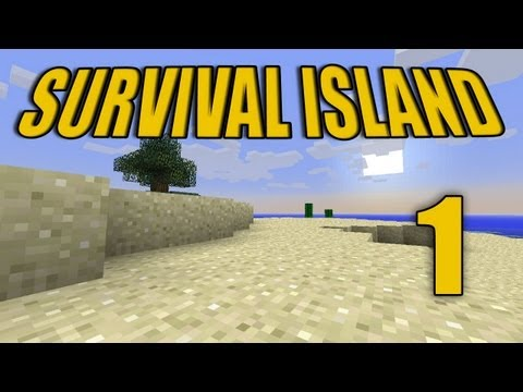 Minecraft - &quot;Survival Island&quot; Part 1: Save Us!