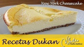 Recetas Dukan Crucero: Tarta de queso y galleta / Low carb New York Cheesecake