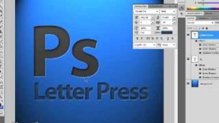 Letterpress emboss text effect photoshop tutorial