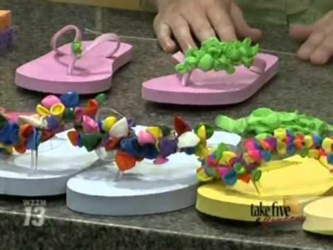 CraftSanity on TV: Making fancy flip flops