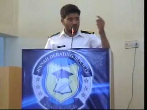 BEST URDU SPEECH AT JIINAH UNIVERSITY FOR WOMEN (Sub Lt. ADNAN ZAHID)