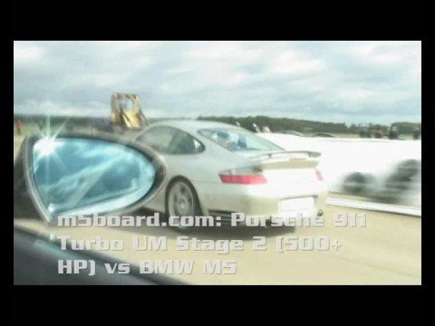 BMW M5 vs Porsche 911 turbo (996) Ultimate Motorwerks Stage 2 + Cargraphic exhaust = m5board.com