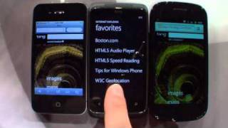 HTML5 Mobile Speed Test - Android, iPhone and Windows Phone 7 (Mango)