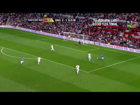 Soccer AID 2010 FULL MATCH england vs rest of the world part7