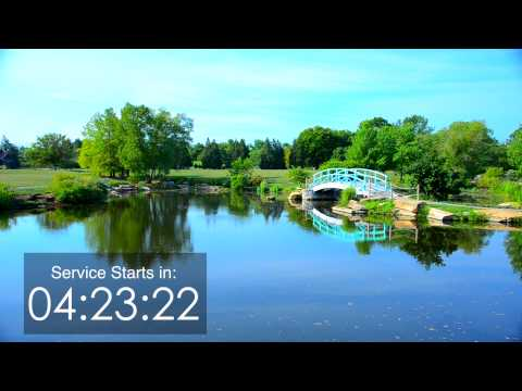 Ten minute Countdown Timer - nature scene with bridge in 1080 HD