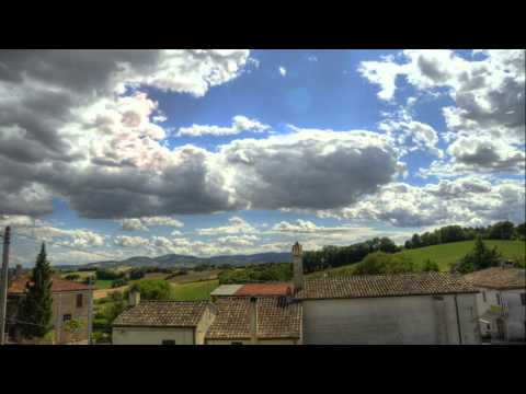 HDR Time Lapse (2hrs in 1min) - Italian cloudy landscape by Nikon D7000