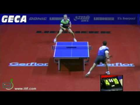 Timo Boll vs Adrien Mattenet[LIEBHERR Men's World Cup 2012]