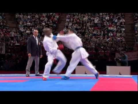 Davy Dona vs Oualid Bouabaoub. Bronze Male Kumite -75kg. 21st WKF World Karate Championships 2012