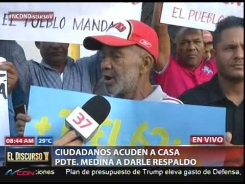 Grupo acude a la casa de Danilo en su apoyo