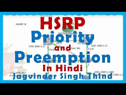 Redundancy In Network Part 3 HSRP Priority and Preemtion in Hindi