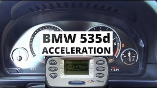 BMW 535d xDrive 313 KM - acceleration 0-100 km/h