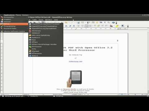 Writing an E-book with Oracle Open Office Writer 3.2 word processor