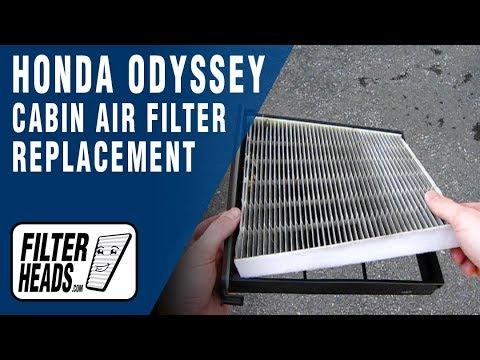 Cabin air filter replacement- Honda Odyssey
