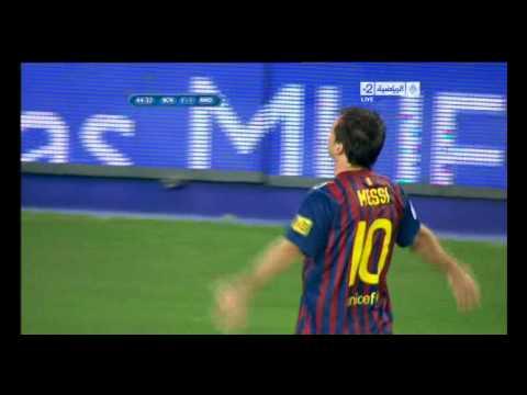 barcelona vs real madrid lionel messi GOAL 2-1 18-8-2011