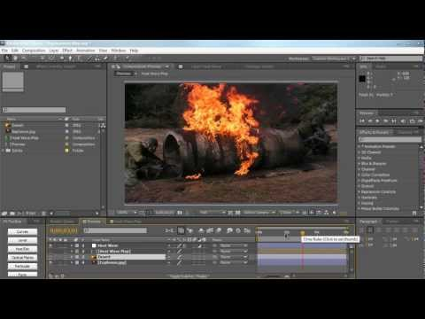 AE: Using Displacement Map and Create Heat Waves
