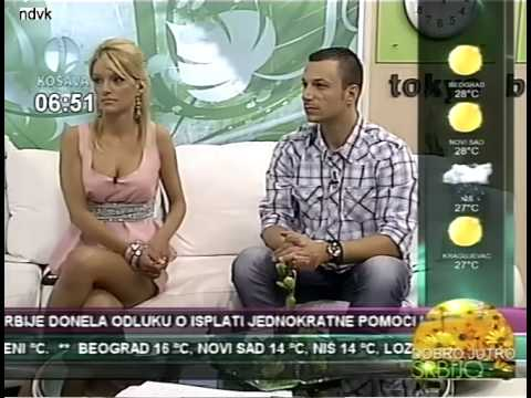 Tamara Stojmirov sexy hot crossed legs, voditeljka TV Kosave
